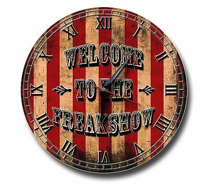 Welcome To The Freakshow 250Mm Diameter Clock,american Horror Story,circus