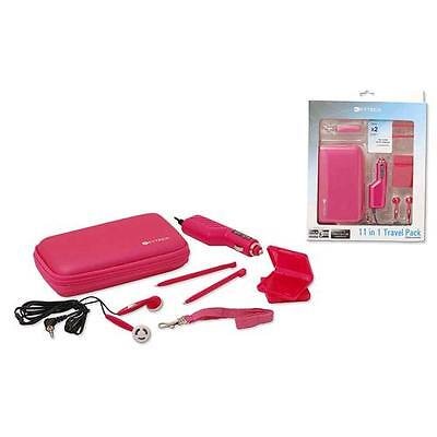 11 in 1 travel pack compatibile nintendo 3ds ds ds lite pink