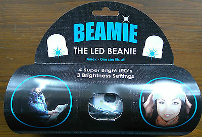 THE BEAMIE Beanie hat with LED Torch GENUINE ORIGINAL Grey One size New