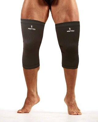 (Medium, Black) - New You Compression Knee Sleeves (Pair) – Effective Support