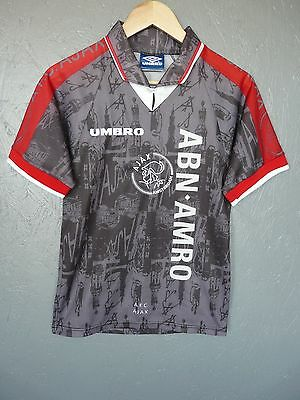 Vtg Ajax Umbro 1996 Away Football Shirt Trikot Jersey Sz 176cms (Y044)