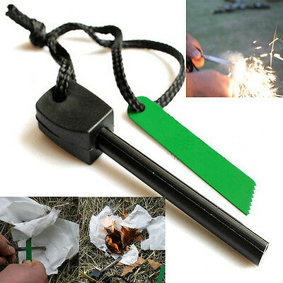 Magnesium Flint Stone Fire Starter Emergency Survival Camping Kit Safety Outdoor