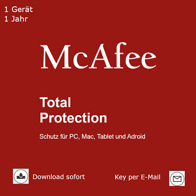 McAfee Total Protection (2018) 1 Gerät 1 Jahr Download