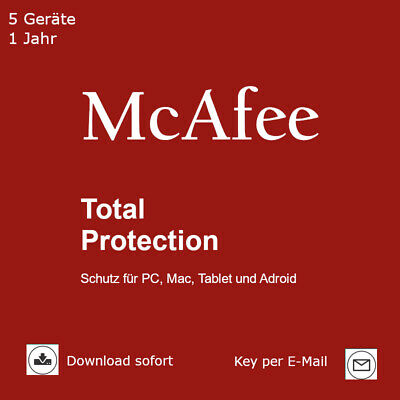 McAfee Total Protection (2018) 5 Geräte 1 Jahr Download