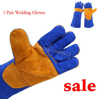 Men's CushionCore Cowhide TIG MIG Welding Gloves 40cm/15.75inch Professional