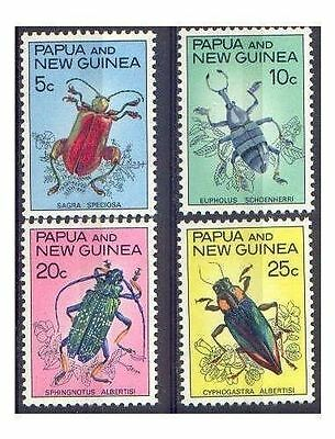 Papua New Guinea 1967 BEETLES Set (4) Unhinged Mint SG 109-12