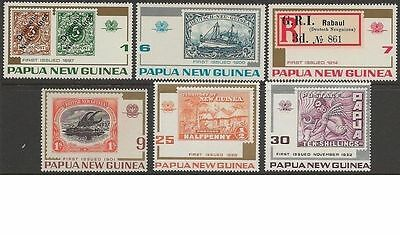 Papua New Guinea 1973 STAMPS ANNIVERSARY (6) Unhinged Mint SG 260-5