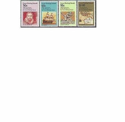 Cocos Islands 1984 375th ANNIVERSARY (4), Unhinged Mint SG 115-8