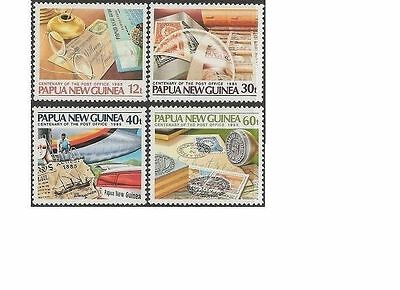 Papua New Guinea 1985 PO CENTENARY (4) Unhinged Mint SG 507-10