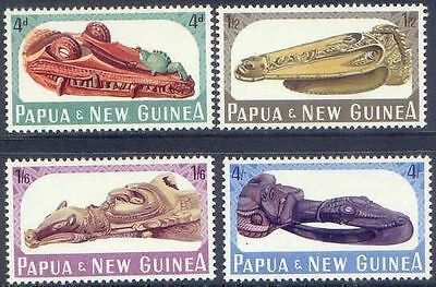 Papua New Guinea 1965 CANOE PROWS (4) Unhinged Mint SG72-75