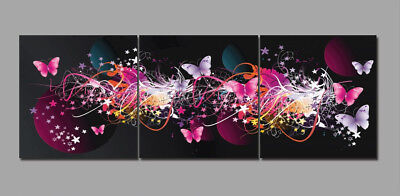 Huge Abstract Butterfly Star on Canvas Art Oil Painting Home Wall Decor No Frame
