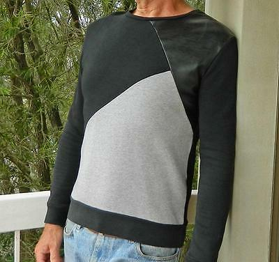 VINTAGE Zara Man Edgy Rocker Panelled Slim Fit Sweater