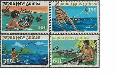 Papua New Guinea 1981 FISHING (4) Unhinged Mint SG 417-20