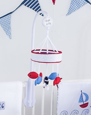 Red Kite Baby Musical Mobile Ship Ahoy (Blue) Pretty Kitty (Pink) Safari (Multi)