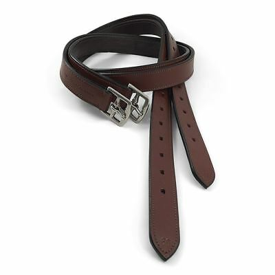 NEW Stock Saddle Stirrup Leathers - Fully Stitched and Leather Lined - 60 Inch