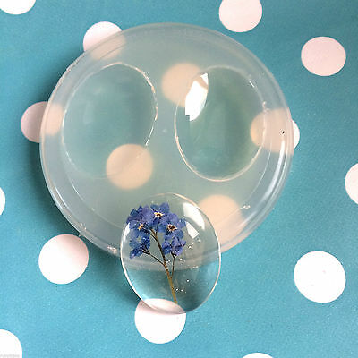 SILICONE OVAL CABOCHON - 40mm X 30mm Resin Jewellery Mould Mold Jewelry Shape