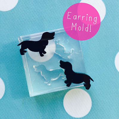 SILICONE EARRING DACHSHUND MOLD - Resin Jewellery dog Earrings Pet Mould Animal