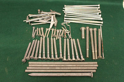 Junk Drawer  Lot Of Lag Bolts / Carriage Bolts  / Toggle Bolts & Assorted Bolts