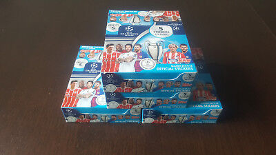 Topps UEFA Champions League 2017/2018 4 Display 120 Booster 600 Sticker