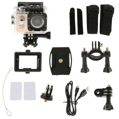 Sport Action Camera Full  DV 1080p Video Cam with Outdoor Accessories