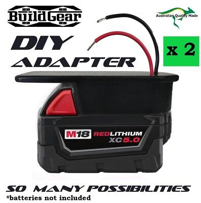 DIY Project Milwaukee M18 Battery Adapter