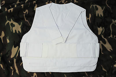 Stab vest cover white 46-54 inch new police Metvest heavy duty paintball airsoft