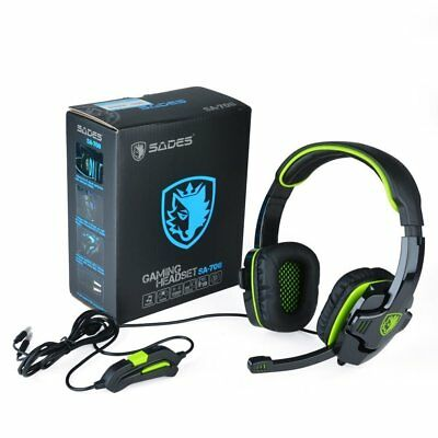 SADES SA708 - Cuffie Surround Stereo con Jack da 3.5mm per PC Gaming, Microfono