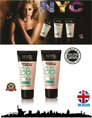 Nyc Smooth Skin Bb Creme 5 In 1 Skin Perfector Bronzed # Choose Your Shade