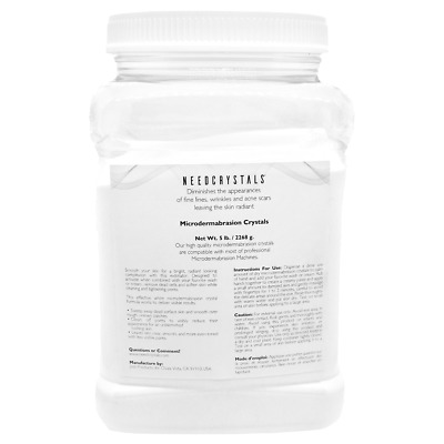NeedCrystals Microdermabrasion Crystals (5 lb, 120 grit) Aluminum Oxide Crystals