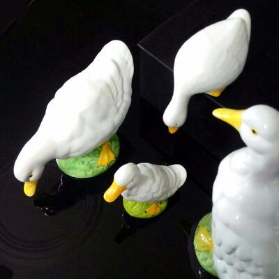 Vintage beautiful LARGE porcelain ducks and two smaller figures