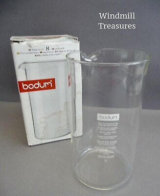 Bodum 8 Cup Replacement 1 Litre Glass Beaker Liner Cafetiere No 1508-10