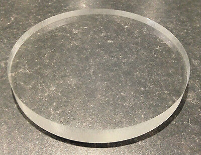 Clear acrylic circle or Perspex discs in 225mm diameter x 25mm thickness