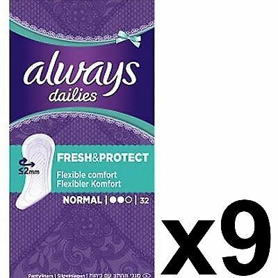Always Dailies Panty Liners Normal Fresh & Protect Odour Neutralising - 288 Pack