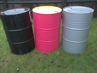 Oil Barrel, Oil Drum -  205 Litre Empty Metal Barrel / 45 Gallon With Bungs