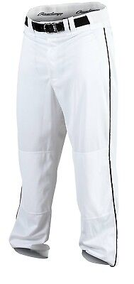(Small, White/Black) - Rawlings Men's Baseball Pant. Shipping Included