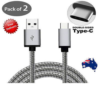 2x Rapid Charging USB Type C Cable Data Charger for Samsung S10 S9 Plus Note 10