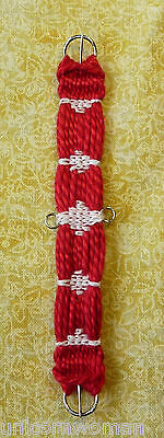 Unicorn Woman's Hand Woven Western Girth Red w/White stays 1/9 Scale Breyer