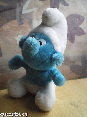 Plush Peluche SCHTROUMPF SMURF Noel Christmas 8 In 20 Cm DOLL KID TOY Peyo - rj
