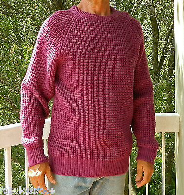 VINTAGE Boydex 1980s Original Groovy Retro Knit Wool Sweater