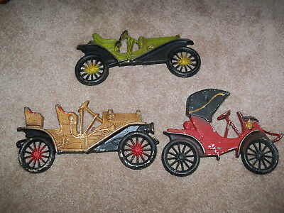 Lot of 3 Vintage Midwest Wall Hangings Antique Car Buick Hupmobile