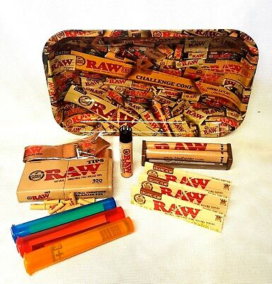 RAW MIX 13x11 TRAY 3 Packs Organic Hemp King Size Rolling Papers Pre Rolled Tips