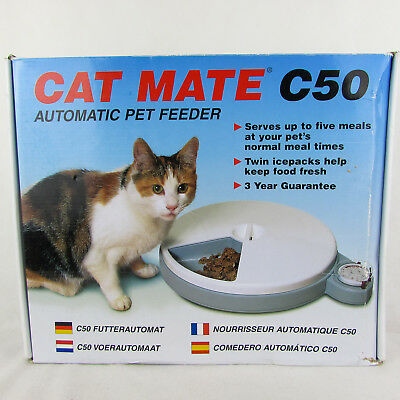 Cat Mate C50 Automatic Cat Feeder + ICE PACKS INCLUDED Boxed