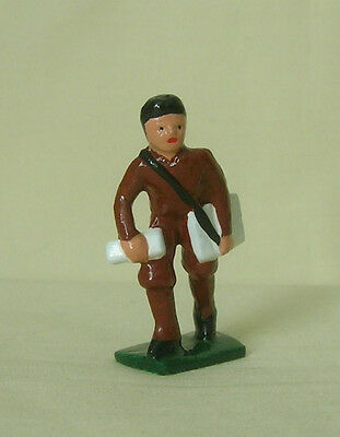Paper Boy delivering newspapers, Reproduction Standard Gauge train layout figure