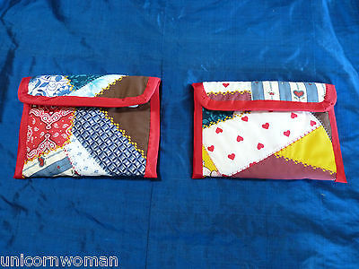2 Model Horse Travel Pouches - Crazy Quilt Pattern - Paddock Pals to Stablemate
