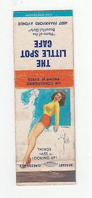 T.N. Thompson Pin Up Matchbook Cover, Little Spot Cafe, Series 2, 1954