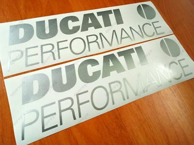 2x DUCATI Performance Superior Cast Motorbike Stickers Decals 988 966 (082s)