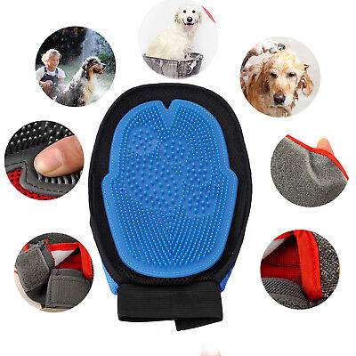 Pet Deshedding Cleaning Brush Magic Glove For Dog Hair Massage Grooming Groomer