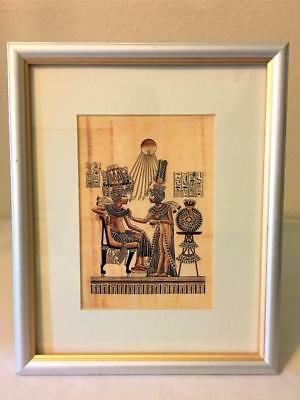 Egyptian Pharaoh King Tut Tutankhamun And Wife Table Or Wall Framed Print 8X10