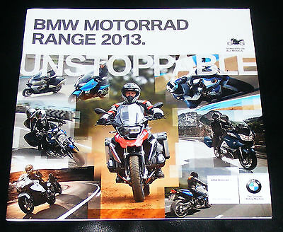 BMW  Motorcycle Range Brochure 2013