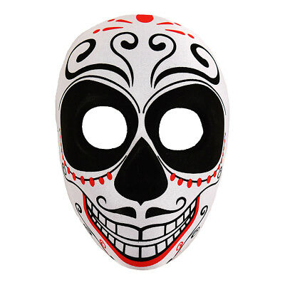 Blue Banana Multicoloured Day of the Dead Moustache Mask Fancy Dress Accessory